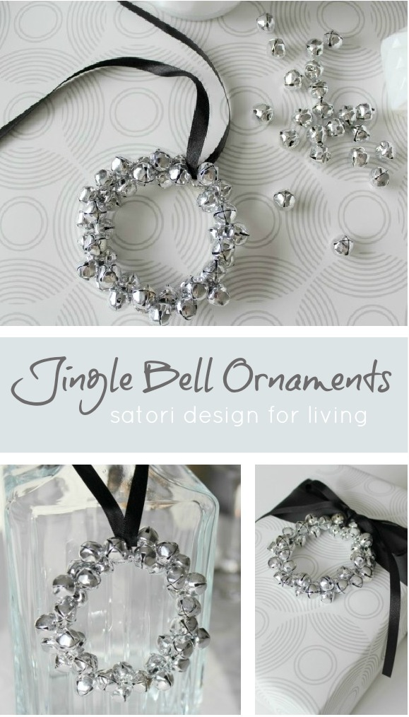DIY Jingle Bell Wreath Christmas Ornament - Satori Design for Living