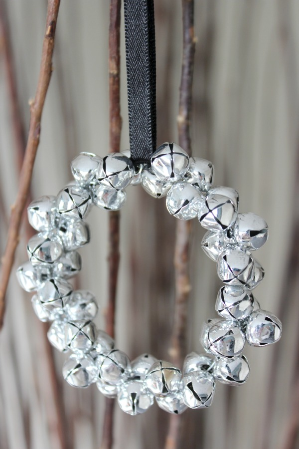 Jingle Bell Wreath Christmas Ornament - Handmade Ornament