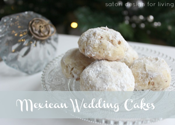 Mexican Wedding Cakes on Glass Plate