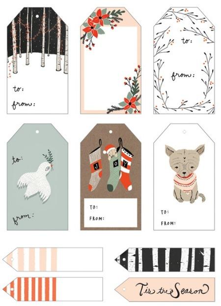 Woodland Christmas Free Printable Gift Tags - Kelli Murray