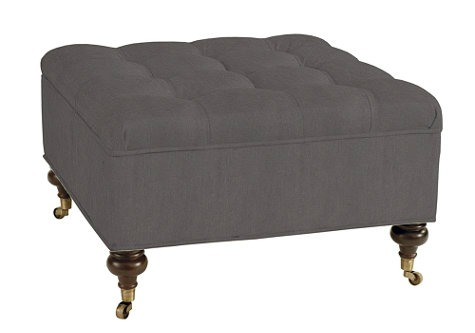 Square Tufted Storage Ottoman - Ballard Designs