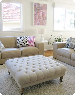 ish and chi - tufted ottoman