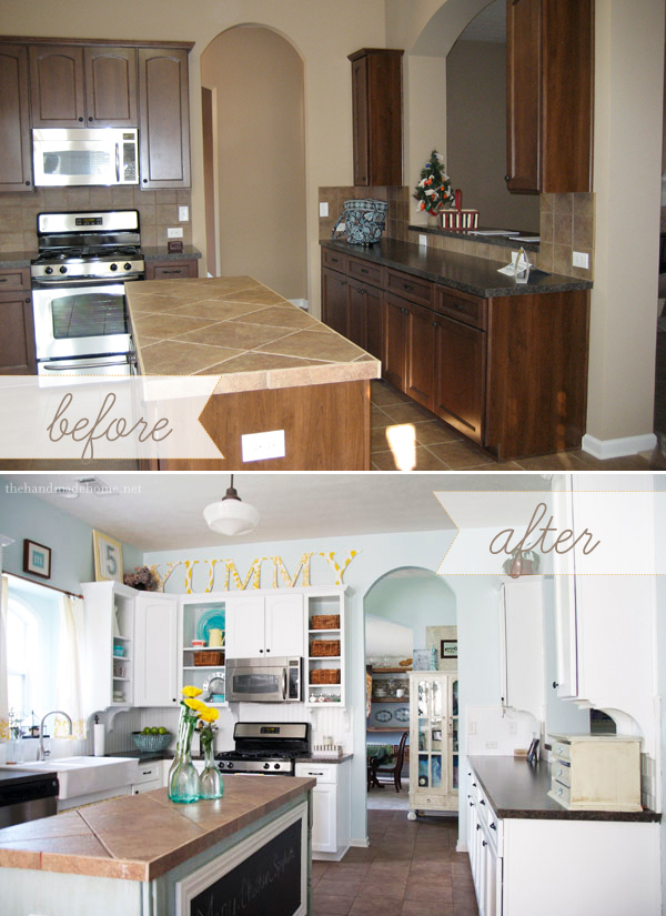 Kitchen Before and After by The Handmade Home