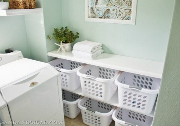 laundry sorting station by Sand and Sisal
