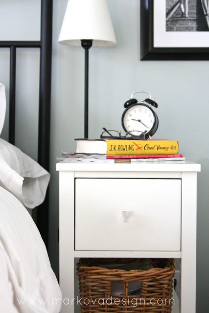 Nightsand Makeover - White Painted Nightstand