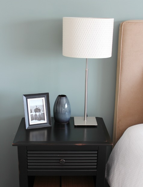 Framed Photo From Travels on Nightstand