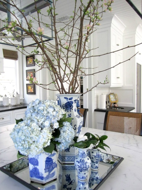 Decorating Crush - Blue and White Chinoiserie Collection on Tray via Classic Casual Home