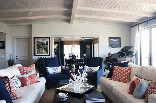 Decorating Crush - Blue and White Living Room - Darci Goodman Design
