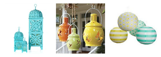 Colorful and Whimsical Outdoor Lanterns