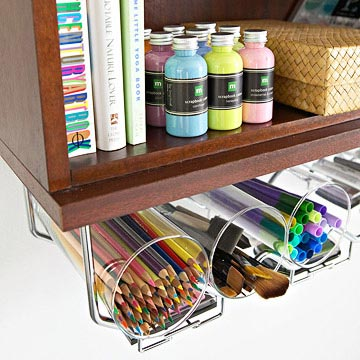 Ways to Decorate With Glass Cylinders - Craft Storage - Better Homes & Gardens