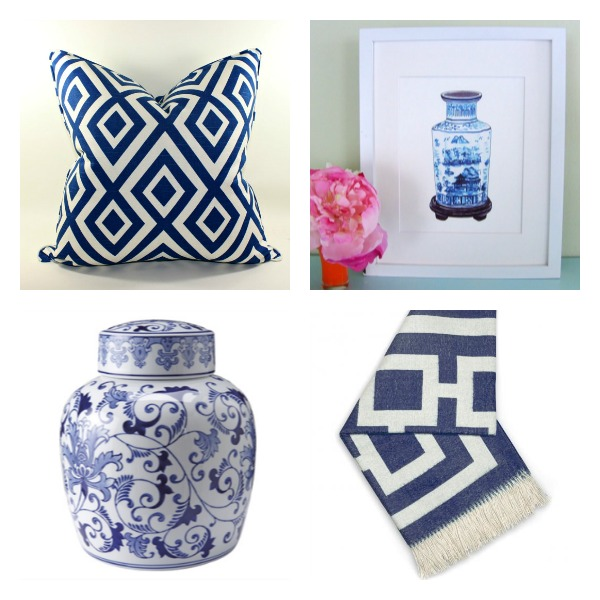 Blue and White Decorative Accessories