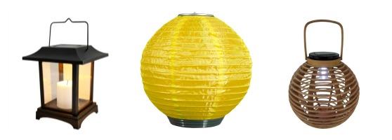 Solar Powered Outdoor Lanterns
