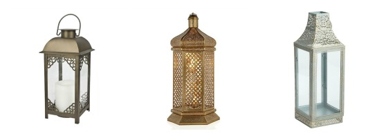 Outdoor Lantern Options - Trendy Lace or Cut Out Pattern