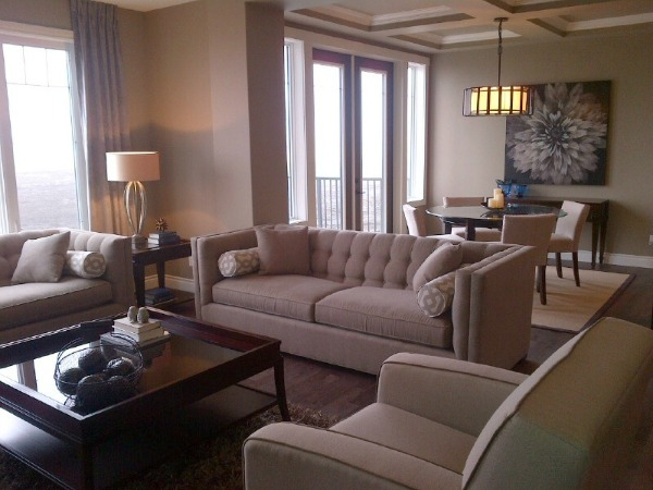 Showhome Tour - Neutral Living Room and Dining Room