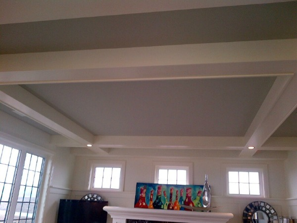 Showhome Tour - Living Room Coffered Ceiling