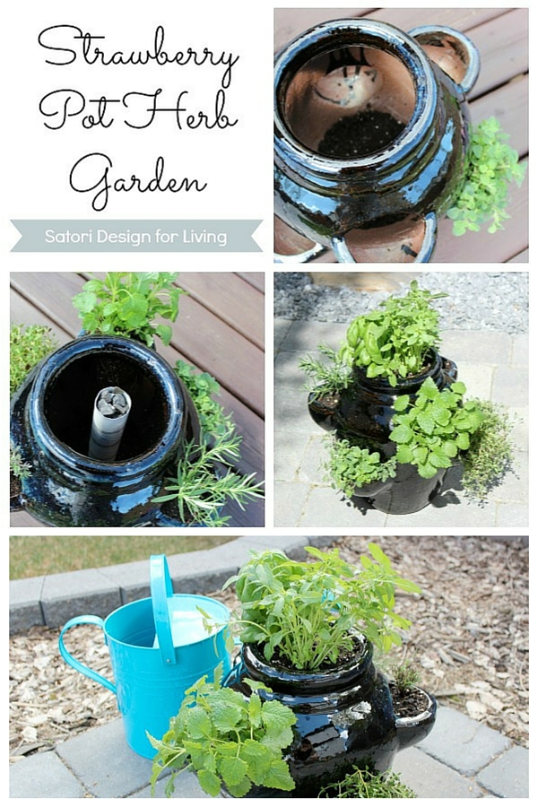 How to Plant a Container Herb Garden in a Strawberry Pot - What to Plant in a Strawberry Pot