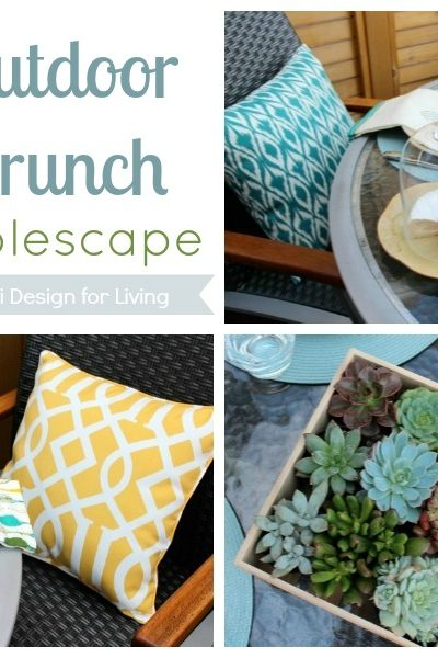 Outdoor Decorating- Brunch Tablescape