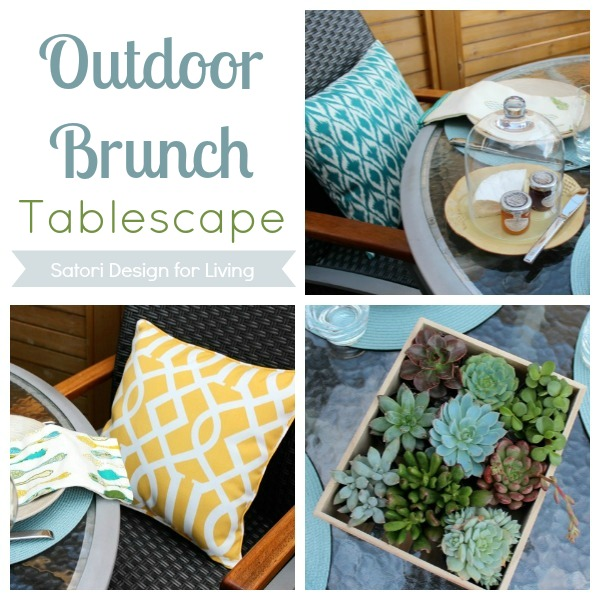 Outdoor Decorating - Brunch Tablescape - Satori Design for Living