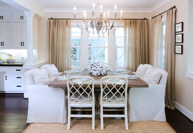 Skinny Arm Chandelier - Light Fixtures for Open Concept Dining Rooms - Bliss Design Firm
