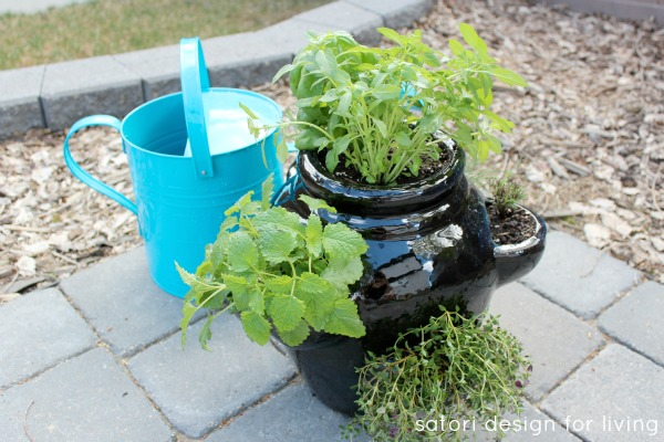 How to Plant a Strawberry Pot Herb Garden - Herb Container Garden