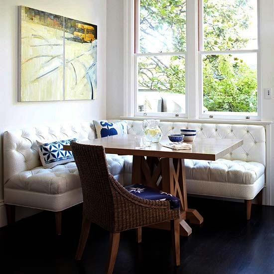 Button Tufted Banquette for Dining - Eclectic Mix - Better Homes & Gardens
