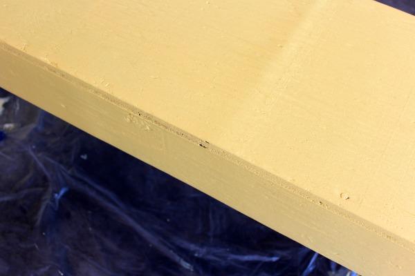 Yellow Bench Makeover - DIY Outdoor Paint Project - Benjamin Moore Golden Honey Base Coat - Satori Design for Living
