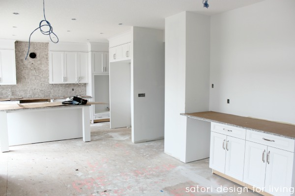 Design Project - White Kitchen Under Construction