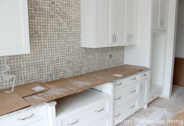 Design Project - White Kitchen with Marble Backsplash