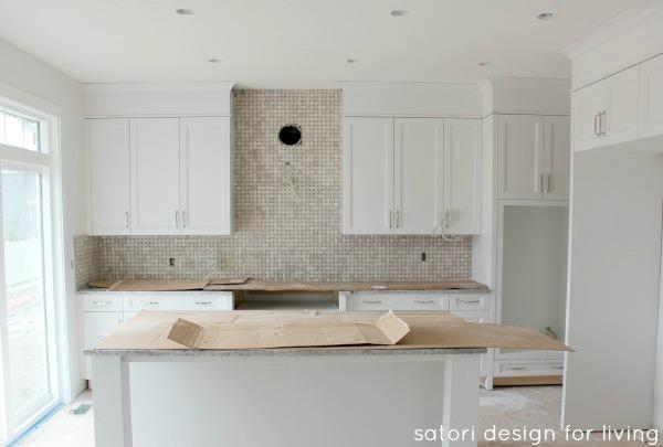 Design Project- White Kitchen with Marble Backsplash PROGRESS