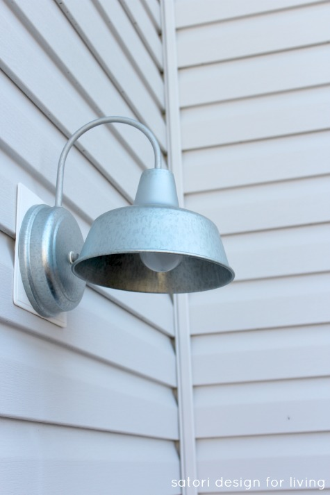 Backyard Updates - Galvanized Steel Barn Light Sconce - Satori Design for Living