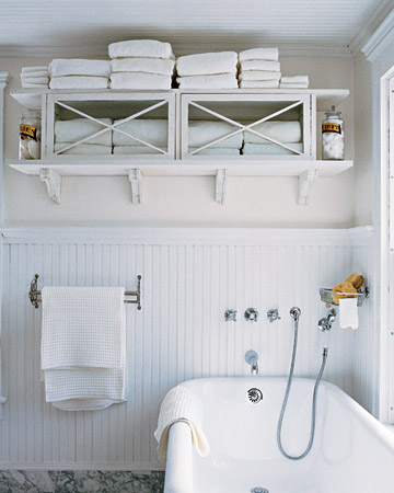 Beadboard Bathroom - Martha Stewart