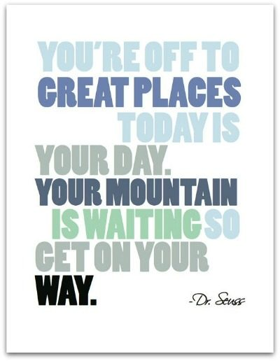 Dr. Seuss Quote Print - You're Off to Great Places - The Village Press