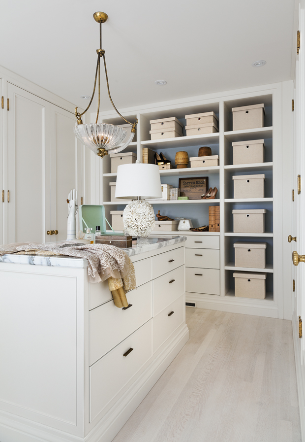 Organized Closet with Cubbies and Island - Theresa Casey Design