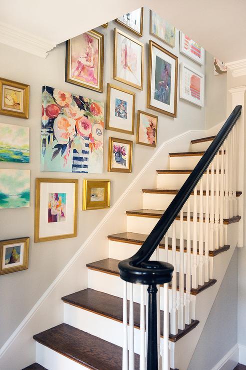 Staircase Wall Art Gallery - Mandarina Studio