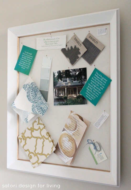 DIY White and Gold Pinboard - Inspiration Board DIY by Satori Design for Living