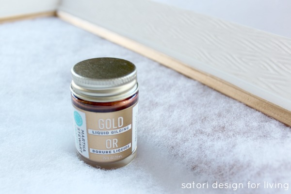Gold Liquid Gilding for Pin Board Project