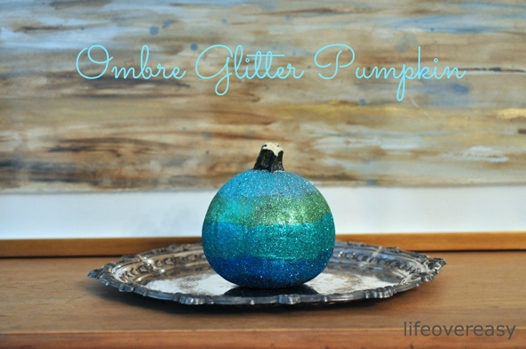 Halloween Project - DIY Ombre Glitter Pumpkin - Life Over Easy