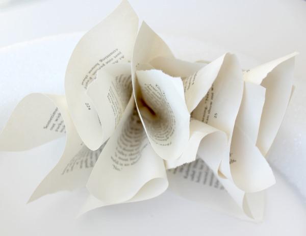 Book Page Wreath Tutorial - Satori Design for Living
