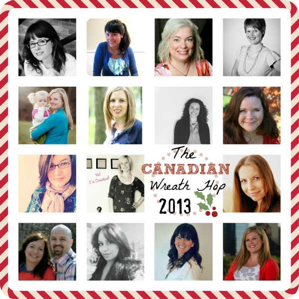 Canadian Blogger Wreath Hop Collage 2013