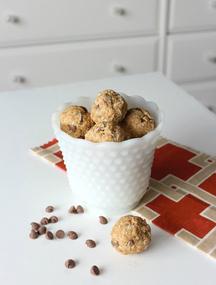 Chocolate Chip Peanut Butter Energy Bites Recipe - Satori Design for Living