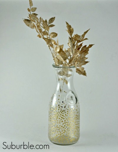 DIY Gold Bubble Glass Vase | Project Using Glass Paint | Suburble.com