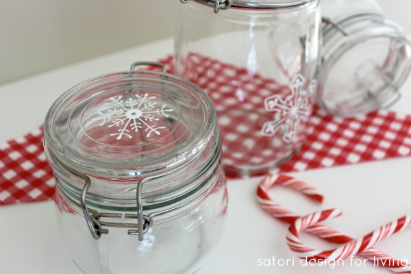 Hand Painted Glass Canisters Tutorial - Satori Design for Living