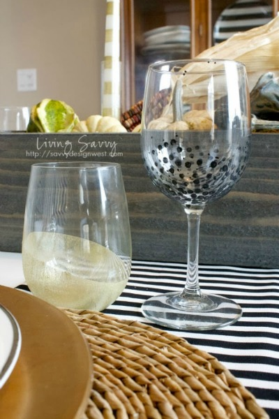 Hand Painted Stemware | Glass Paint Project | Living Savvy