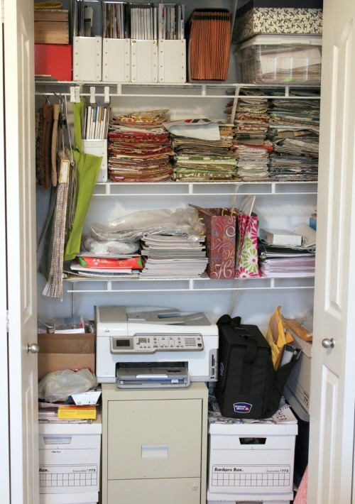 Office Makeover - Closet Before