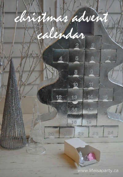 Silver Leaf Advent Calendar | Life is a Party