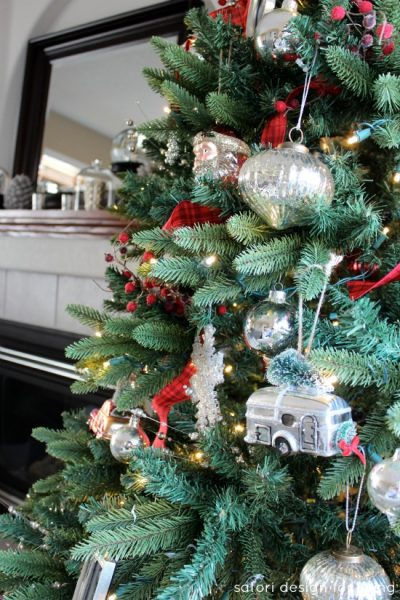 Red, white and silver Christmas tree   Satori Design for Living