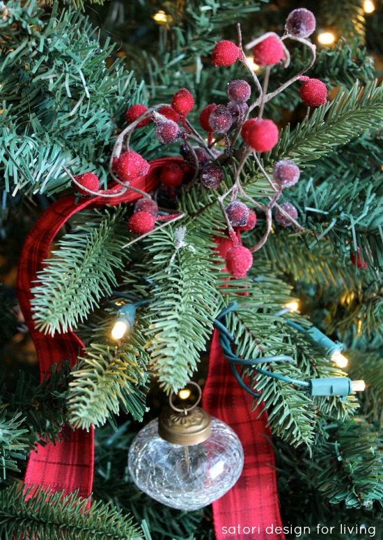 Red, Silver and White Christmas Tree | Satori Design for Living