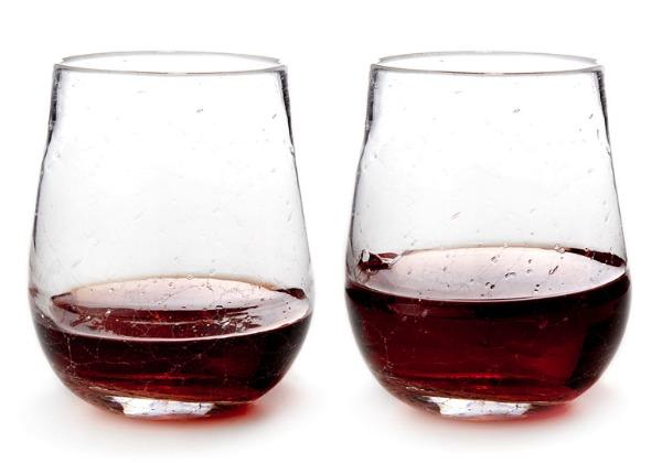 Stemless Crackle Wine Glasses | Satori Design for Living