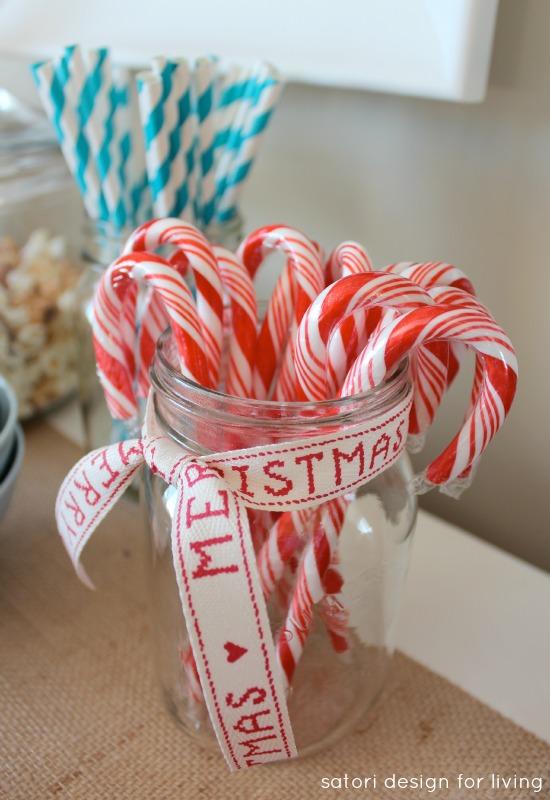Hot Chocolate Bar | Peppermint Candy Canes | Satori Design for Living