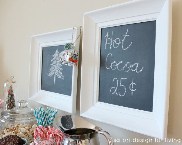 Hot Chocolate Bar | DIY Chalkboard Signs | Satori Design for Living
